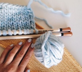 herringbone stitch knitting needle - knit affair
