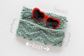 Sunglass case pattern, by Hands Occupied - myknitaffair.com