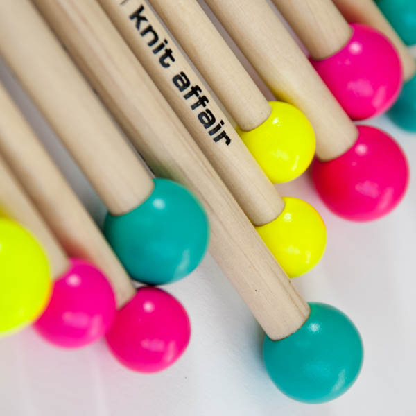 Knitting Tools For Kids : Knitting needles for kids straight colorful