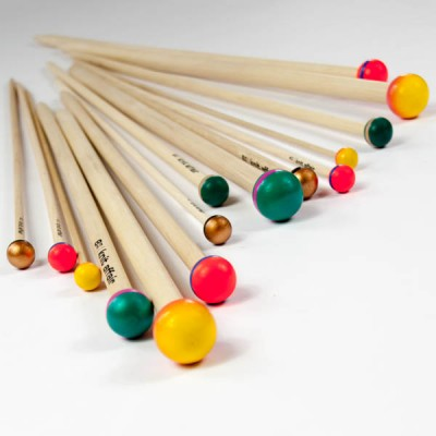 knitting needles straight multi color