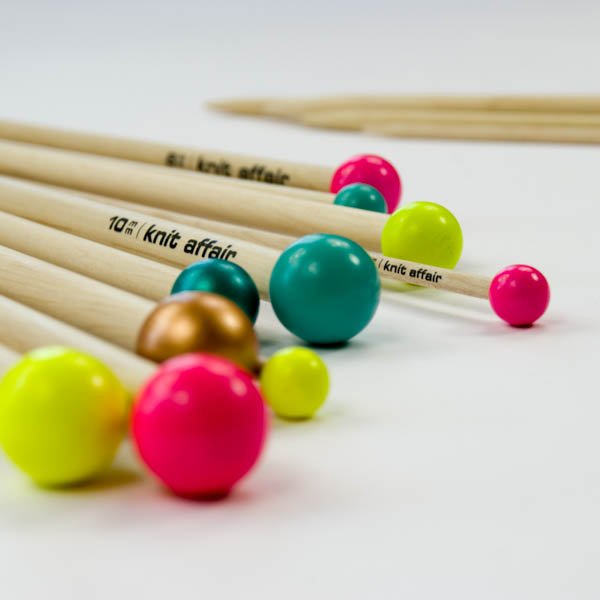 knitting needles straight single color