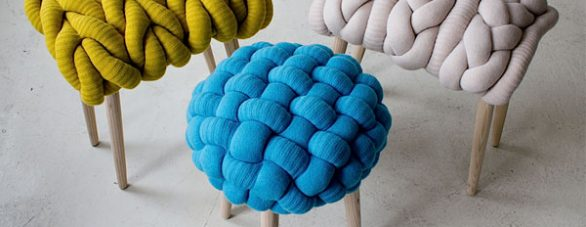 Knit-inspired furniture | Claire-Anne O'Brian