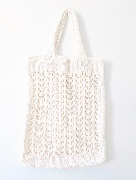 Tote bag knitting pattern | Two of Wands