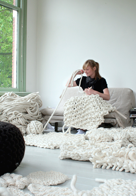 Large-scale flock-carpet | Christien Meindertsma