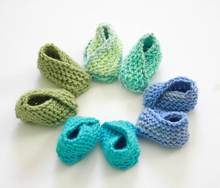 Simple Bootie Knitting Pattern : Baby booties knitting pattern Gina Michele - knit affair