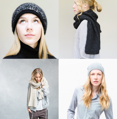 Minimal aesthetic shawl & hat pattern | Julie Hover