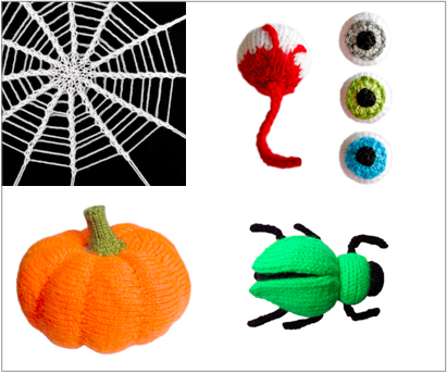 Halloween inspiration - knitting pattern, by Oddknits - www.myknitaffair.com