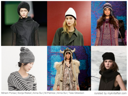 Knitted Hats Autumn/Winter 2015 | Designer inspiration by knitaffair.com