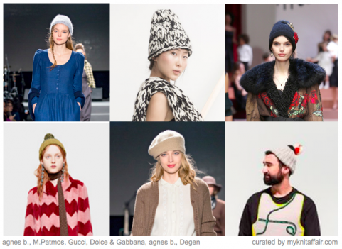 Knitted Hats | Designer inspiration Autumn/Winter 2015