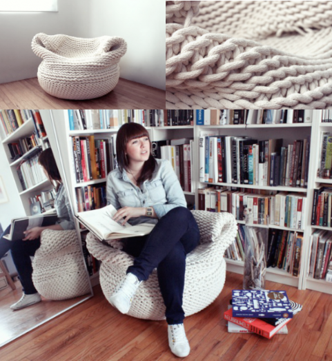 Knit inspired sofa chair | Amaya Gutierrez