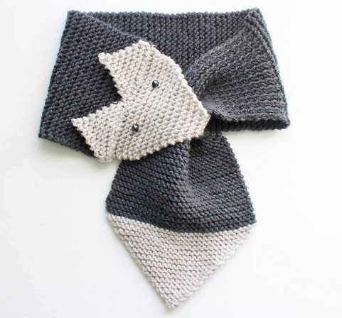 Fox Scarf knitting pattern | Gina Michele