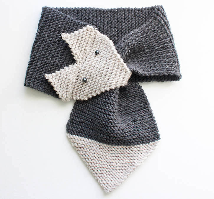 Fox Scarf knitting pattern | Gina Michele - knit affair