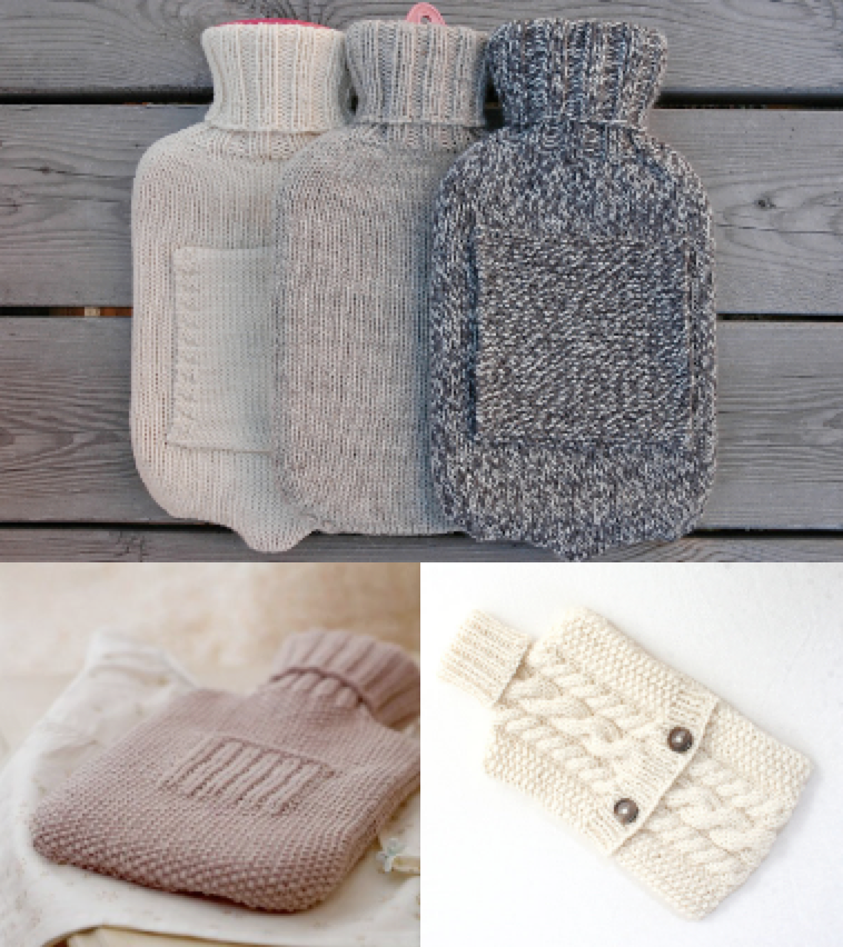 Easy Hot Water Bottle Knitting Pattern : Hot Water Bottle Cover pattern Elly Fales, Debbie Bliss, KnitsyChrochet - k...