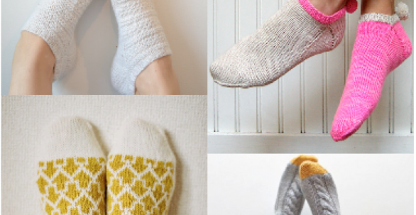 4 stylish sock patterns | Taina Anttila, Purl Soho, Makiho Negishi, Jessica Joy